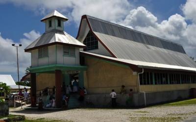 Church on Sunday, Funafuti Atoll, Tuvalu