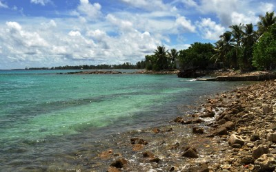 Lagoon side of Fongafale Island, Funafuti Atoll, Tuvalu