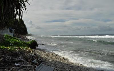 Pacific Ocean side of Fongafale Island, near the port, Funafuti Atoll, Tuvalu