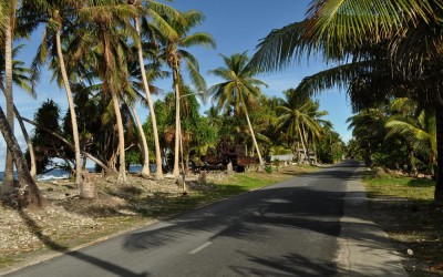 The streets of Funafuti, Tuvalu