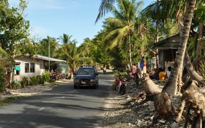 The streets of Funafuti, Tuvalu