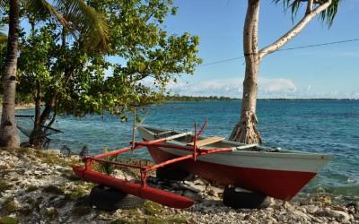 Outrigger canoe, Funafuti Atoll, Tuvalu