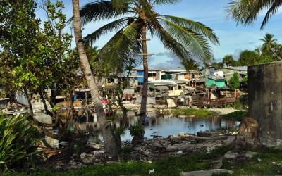 Houses around the borrow pits, Funafuti Atoll, Tuvalu