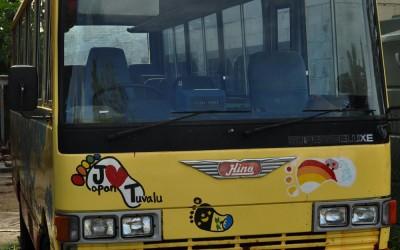 Local bus (presumably donated by Japan), Funafuti Atoll, Tuvalu