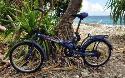 My Tuvalu bicycle, rusty with no functioning brakes