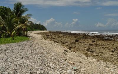 The western end of Fongafale Island, Funafuti Atoll, Tuvalu