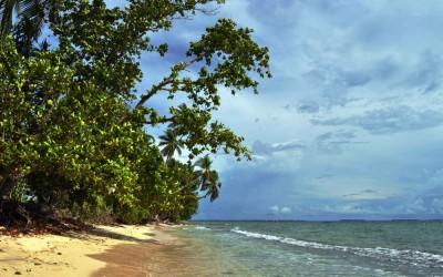Lagoon side beach, Fongafale Island, Funafuti Atoll, Tuvalu