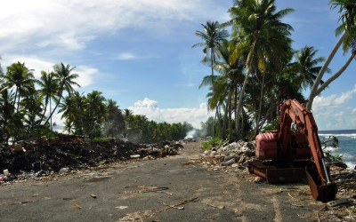The rubbish dump, Funafuti Atoll, Tuvalu. How does a tiny nation with little land dispose of its rubbish?