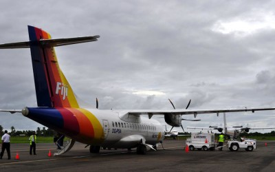 The ride to Tuvalu - an Air Pacific ATR42
