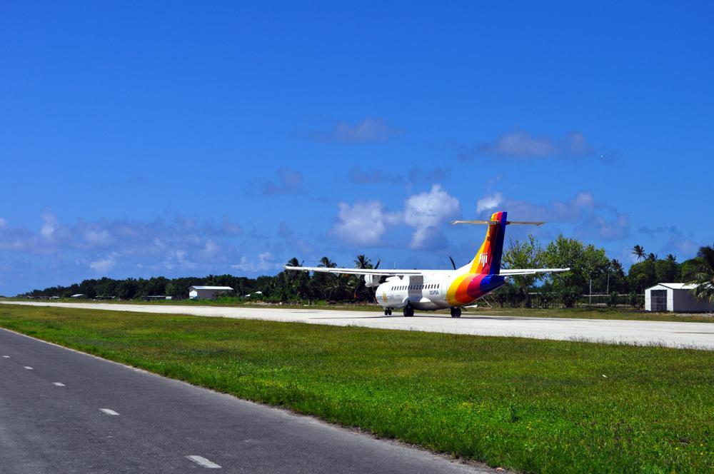 Departing ATR42, Funafuti Airport