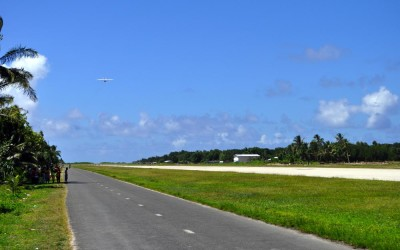 Departing ATR42, Funafuti Airport