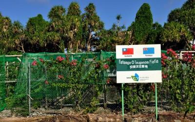 Joint Taiwanese-Tuvalu garden project, Funafuti, Tuvalu