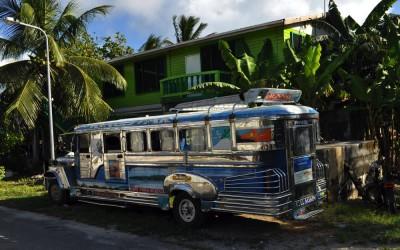 Escaped jeepney, parked somewhere in Vaiaku, Funafuti Atoll, Tuvalu