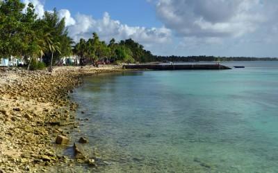 Funafuti Lagoon in downtown Vaiaku, Tuvalu
