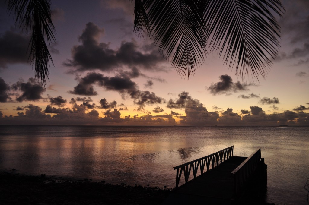 Sunset over Funafuti Lagoon, Tuvalu