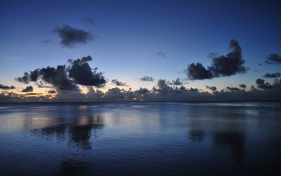 Twilight over Funafuti Lagoon, Tuvalu