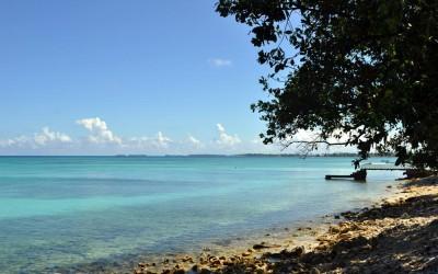 Morning sunshine on Funafuti Lagoon, Tuvalu