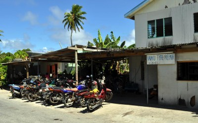 Vaiaku Tyre Repair shop, Funafuti Atoll, Tuvalu