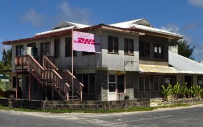 The DHL agent, Funafuti Atoll, Tuvalu