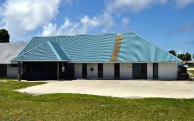 Funafuti International Airport passenger terminal - on a non-flight day