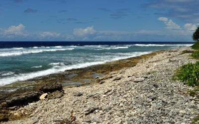 Pacific Ocean side of Fongafale Island, Funafuti Atoll, Tuvalu