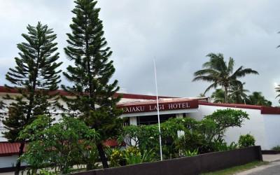 Front of the Vaiaku Lagi Hotel, Funafuti Atoll, Tuvalu