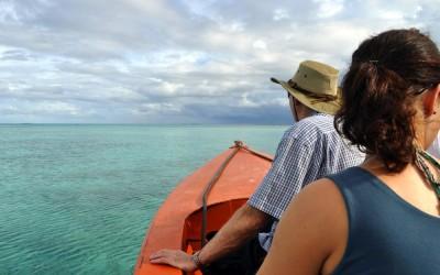 Out on Funafuti Lagoon on the way to Funafala, Tuvalu