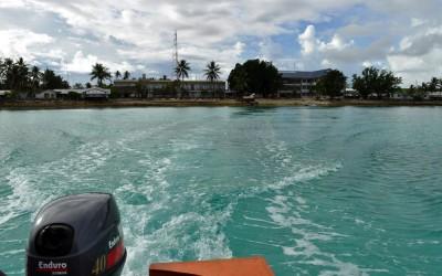 Heading away from Fongafale on the ride out to Funafula, Funafuti Atoll, Tuvalu