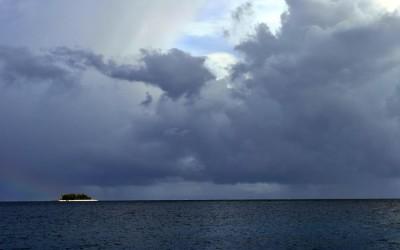 On a boat out on Funafuti Lagoon, Tuvalu