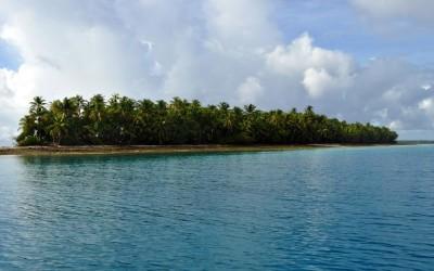 Approaching Funafala Island, Funafuti Atoll, Tuvalu
