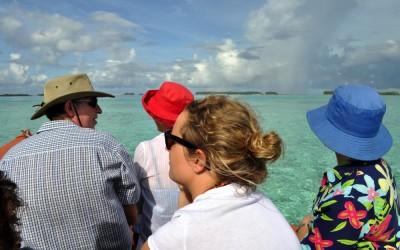 On the boat out on Funafuti Lagoon, Tuvalu