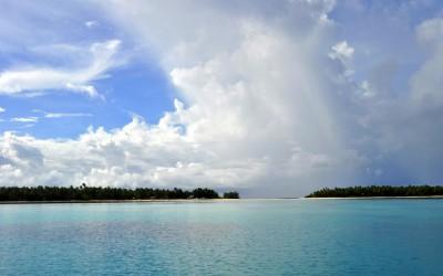 Near Funafula Island, Funafuti Atoll, Tuvalu - looking across towards the conservation area