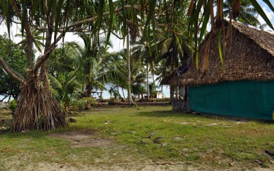 The village on Funafala Island, Funafuti Atoll, Tuvalu