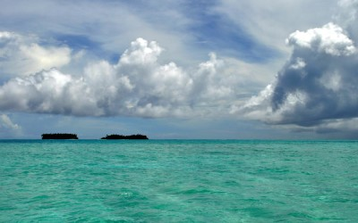 Funafuti Lagoon, taken from near Funafala Island on the return trip to Fongafale, Tuvalu