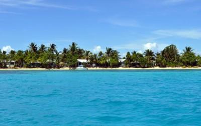 Returning to Fongafale Island, Funafuti Atoll, Tuvalu