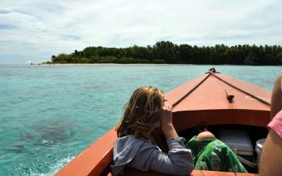 Approaching Tepuka Island, Funafuti Atoll, Tuvalu