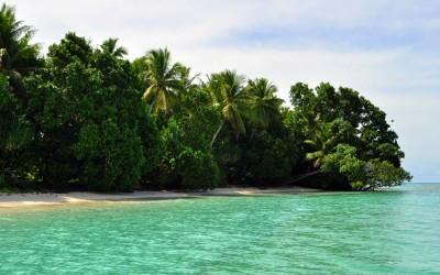 Arriving at Tepuka Island, Funafuti Atoll, Tuvalu
