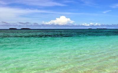 Looking across the lagoon from Tepuka Island, Funafuti Atoll, Tuvalu