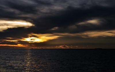 Sunset over Funafuti Lagoon, Tuvalu
